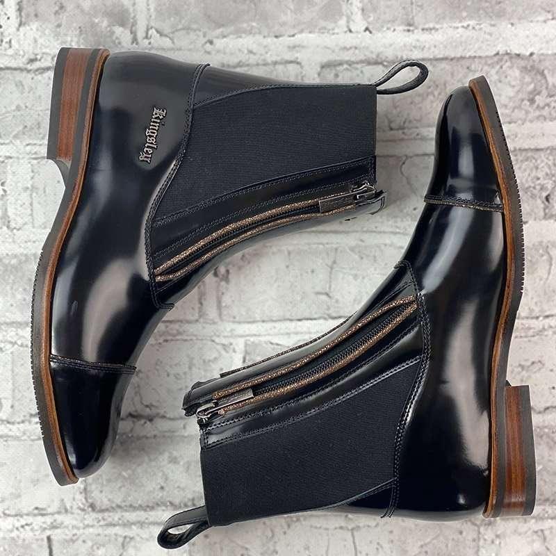 Kingsley Zambia Short Brushed Black Boots